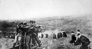 1917 год, австрийцы расстреливают сербов