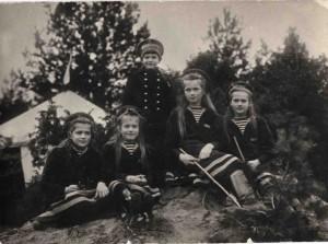 На привале во время морской прогулки. Финский залив, 1914 г.
