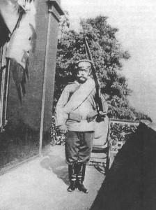 Николай 2 в солдатской форме